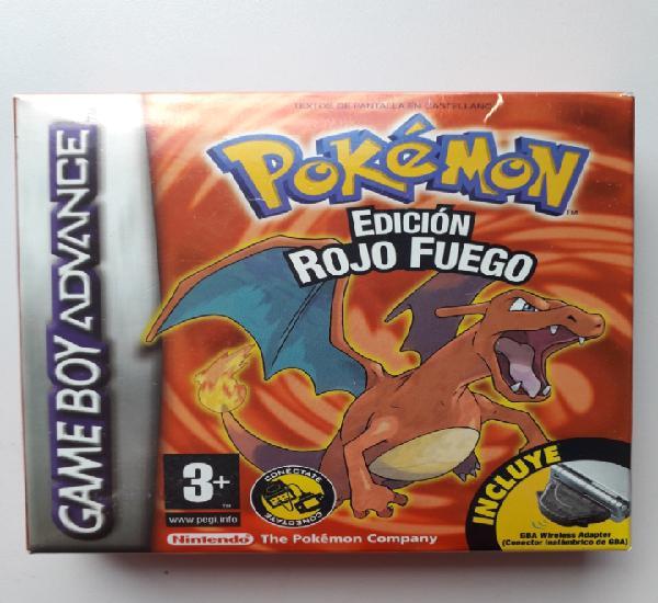 Pokémon edición rojo fuego game boy advance gba