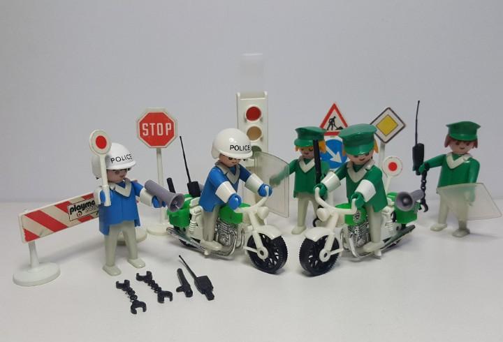 Policia antidisturbios playmobil 3488 antiguo agente trafico
