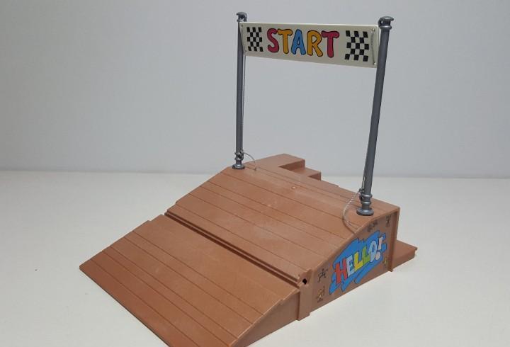 Rampa salida meta playmobil 4141 carrera kart circuito