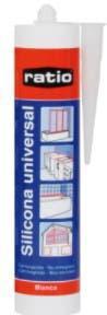 Silicona acetica blanca cartucho 280ml