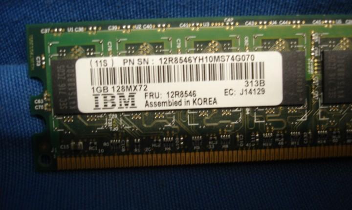 Sim de memoria ram ibm samsung de 1 gb 128m x 72