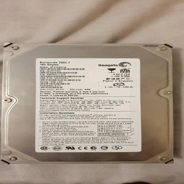 Seagate barracuda 7200.7 st3160021a 160gb ide 3.5