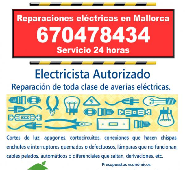 Servicio 24 horas: teléfono 670478434 reparaciones