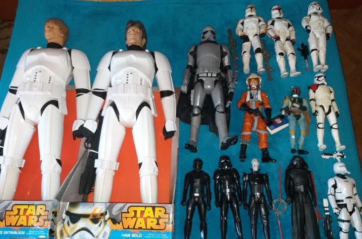 Star wars lote de figuras tamaño grande