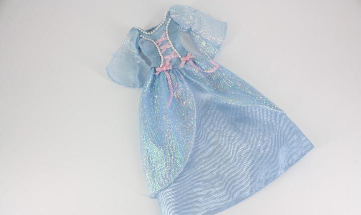 Vestido original barbie princesa color azul - mattel
