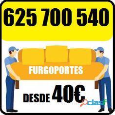Portes baratos en fuencarral: 625 700540 (sofás, cajas...40€)