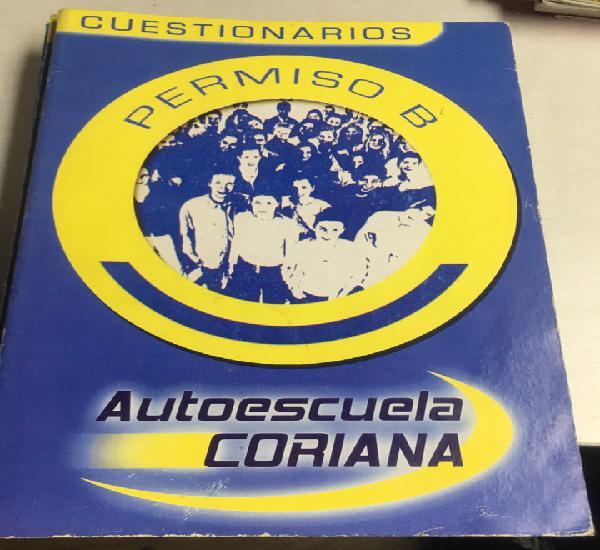 Cuestionarios - permiso b - autoescuela coriana