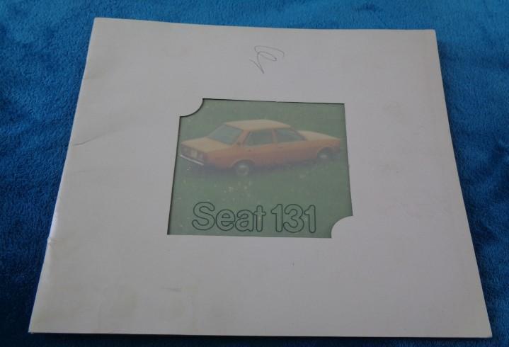 Catálogo publicitario seat 131 - 1976 en español