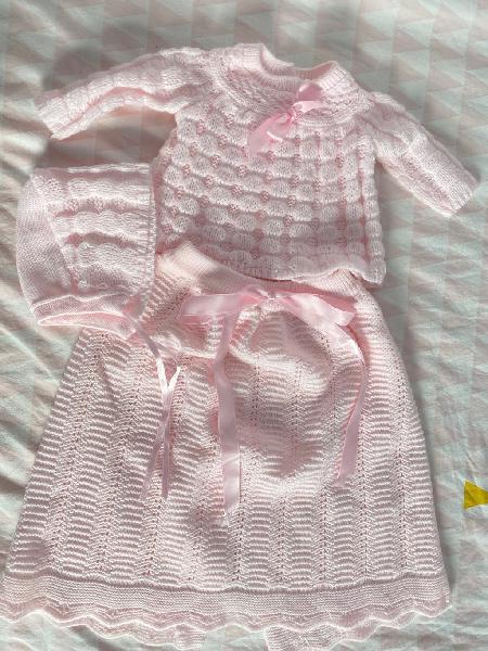 Conjunto de lana recién nacido