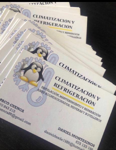 Diseño e impresión tarjetas visita económicas