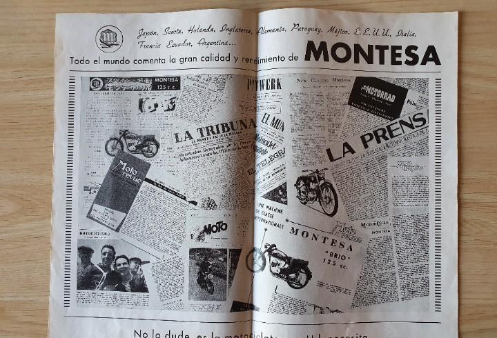Folleto publicitario montesa original años 50