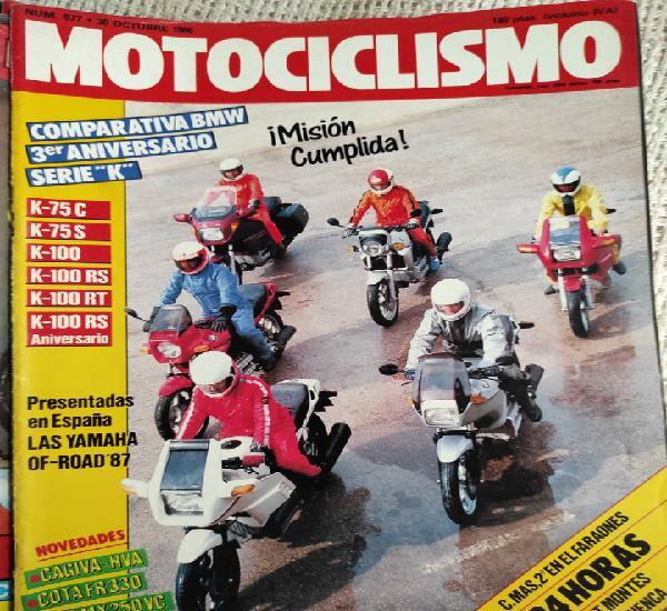Motociclismo nº 977 año 1986. comparativa: bmw k 75 c, bmw