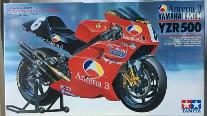 Maqueta moto tamiya yamaha yzr 500 dantin motogp