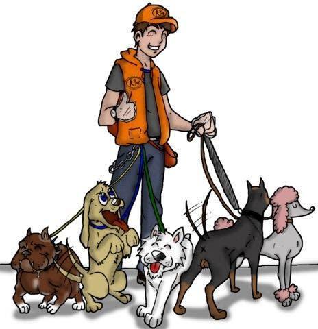 Paseo perros en parla