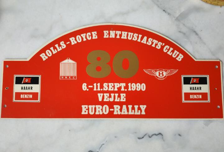 Placa de competición de rallye de rolls-royce