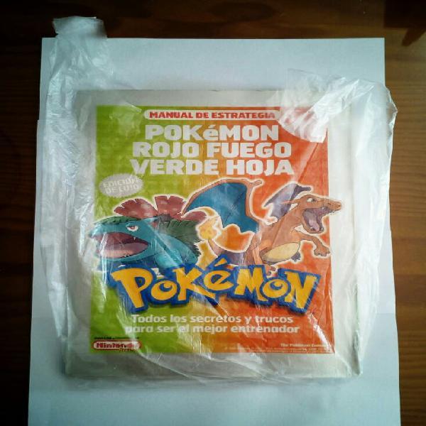 Pokemon manual de entrenamiento rojo fuego de lujo