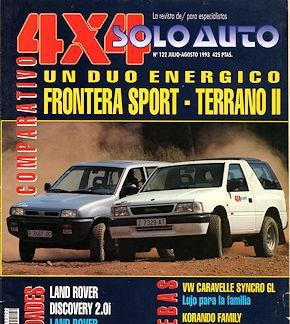 Solo auto 4x4 nº 122 land rover defender opel frotera sport