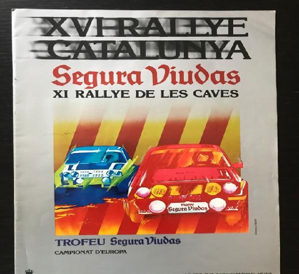Suplemento reglamento original xvi rallye catalunya 1980 -