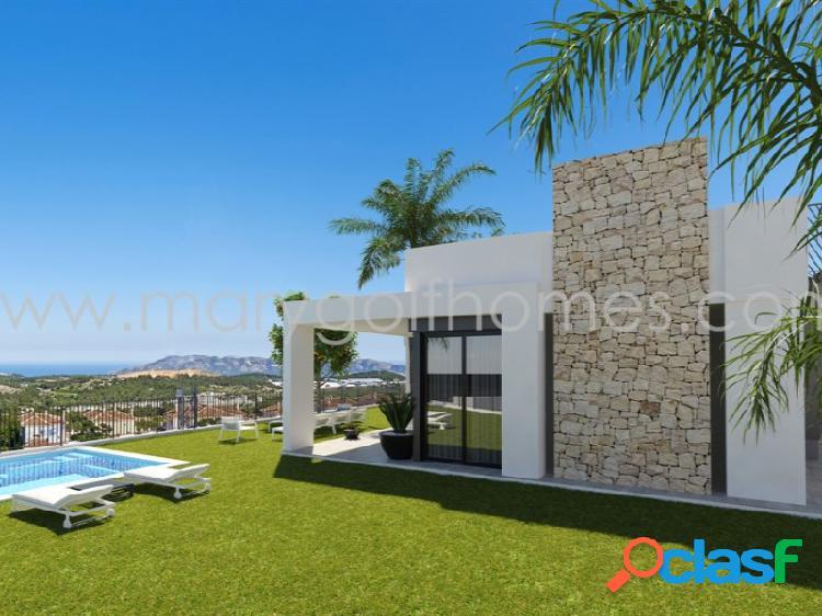 Moderna vivienda independiente en construcción en polop, alicante