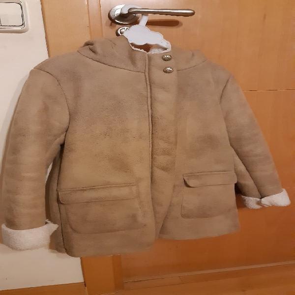 Abrigo niña marrón