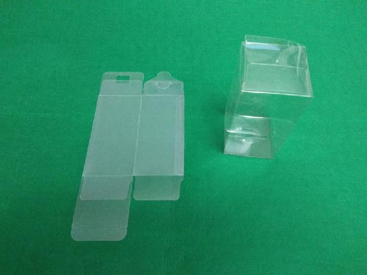 Caja expositora de plástico transparente