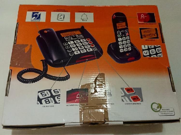 Combo teléfono fijo e inalámbrico personas mayores