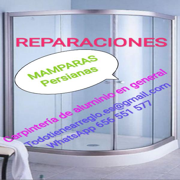 Mamparas, reparación, persianas