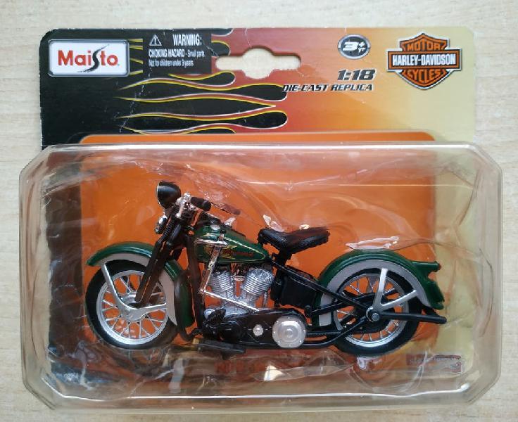 Maqueta motocicleta harley-davidson el knucklehead
