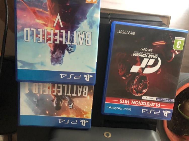 Play 4 videoconsola con juegos y 1 mando