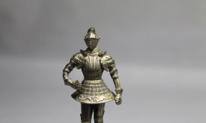 Caballero con armadura, plata maziza, patrimonio nacional,