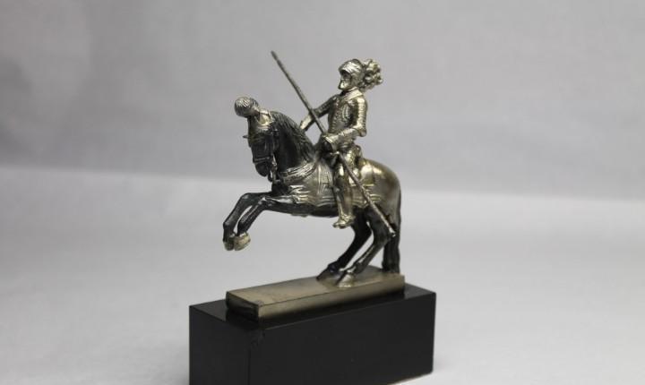 Carlos v a caballo, plata maziza patrimonio nacional real