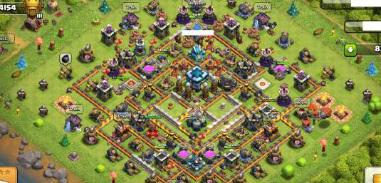 Clash of clans (th13 bh9 otto 5 skins)