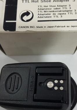 Nuevo) canon adaptador de zapata ttl 3