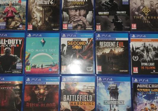Pack de videojuegos ps4 junto o por separado