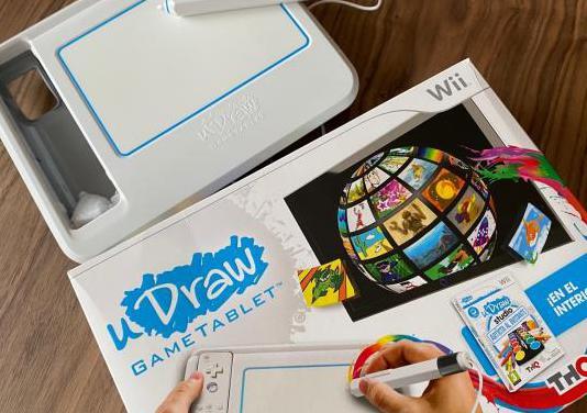 U draw tablet con dos juegos incluidos