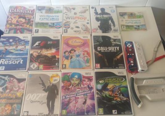 Wii lote juegos y accesorios