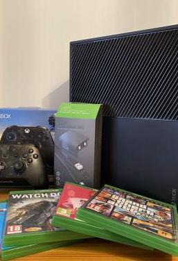 Xbox one 1tb mando 4 juegos