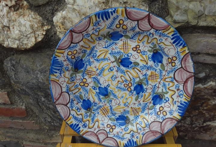Antiguo plato manises siglo xix 32 cm