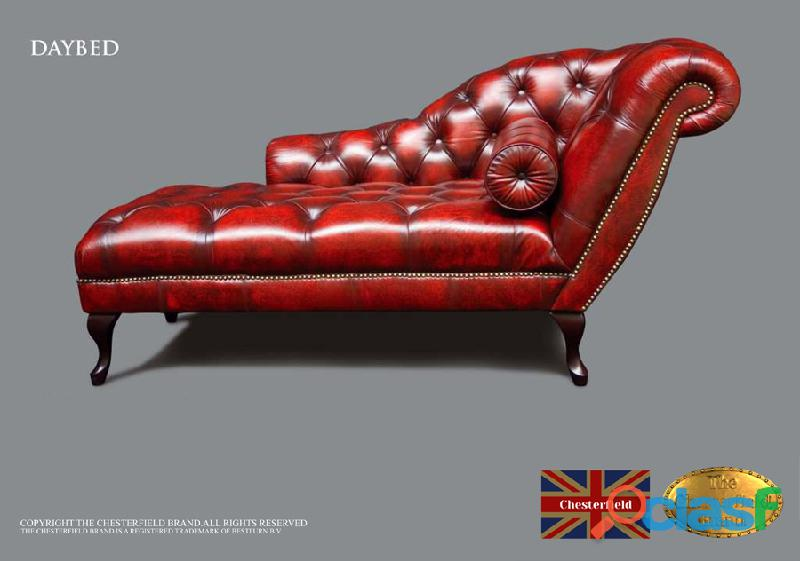 Sofá chester divan classic*rojo antiquo* the chesterfield brand