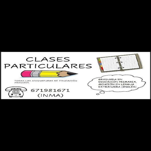 Clases particulares educación primaria