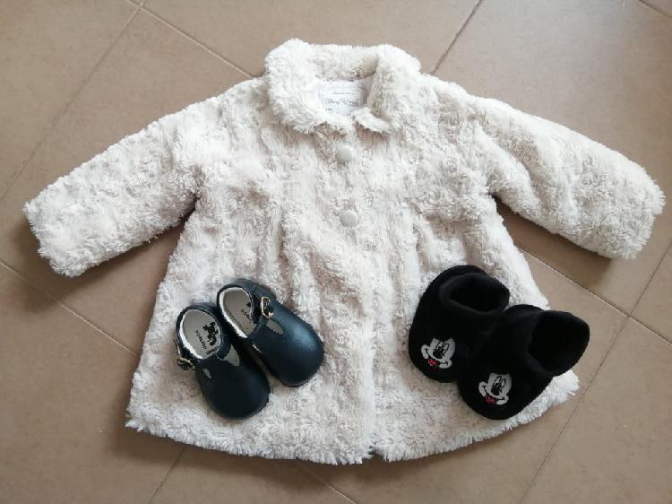Lote abrigo y zapatos