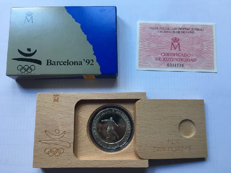 Moneda jj.oo. barcelona futbol 1990