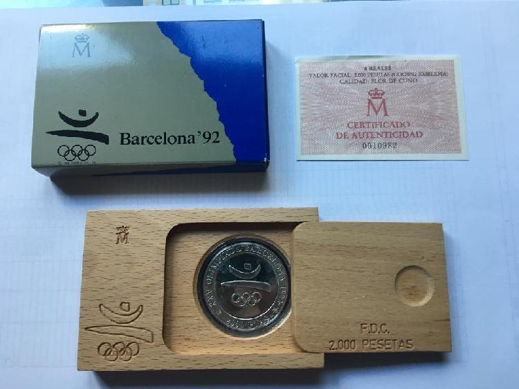 Monedas jj. oo. barcelona emblema oficial 1990