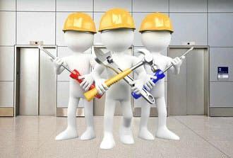 Personal para mantenimiento de ascensores