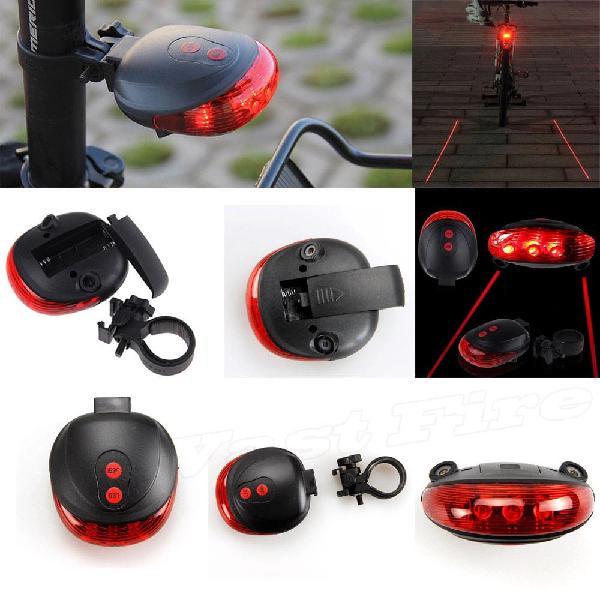 Luz led trasera roja bicicleta