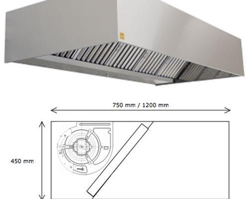 Campana extractora industrial eco r monobloc motor 200 cm
