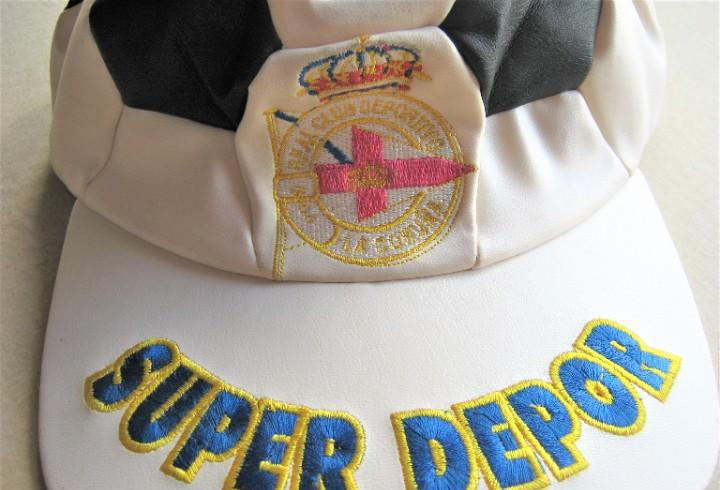 Gorra rcd la coruña visera + logo bordado + skay calidad