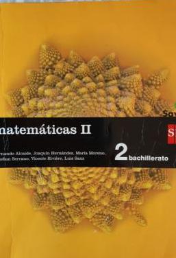 Matemáticas ii. 2 bachillerato. sm