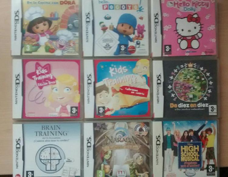 Lote 9 juegos nintendo ds