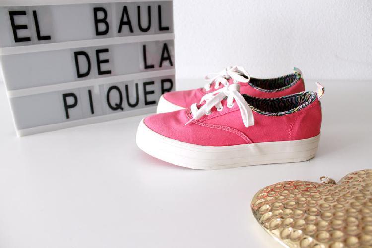 Sneakers rosas plataforma